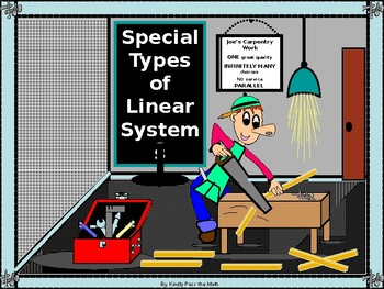 Algebra Power point Special Types of Linear Systems with GUIDED NOTES
