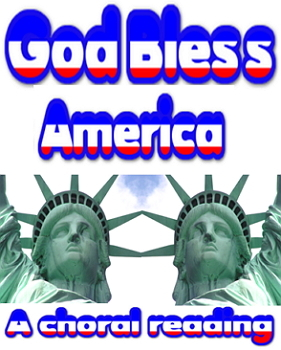 Power point: choral reading - God bless America