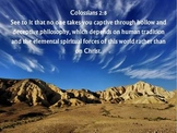 Power point: choral reading of Colossians 2 & 4