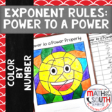 Power to a Power Property Exponent Rules Color by Number 8.EE.1