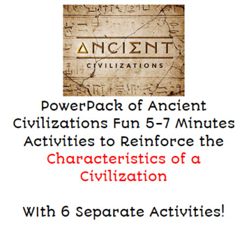 "PowerPack of Ancient Civilizations  ""Features of a Civilization"""