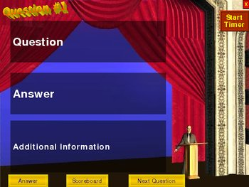 PowerPoint 20 Questions Quiz Show