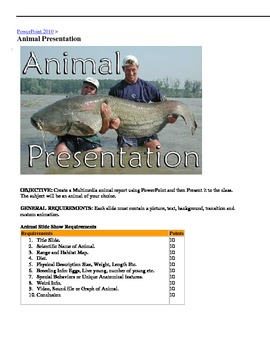Microsoft Office PowerPoint 2010 Animal Presentation