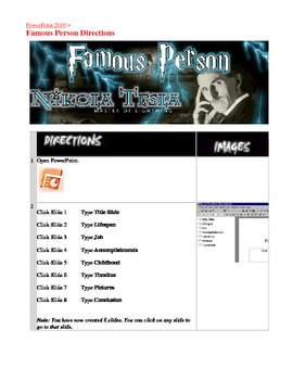 Microsoft Office PowerPoint 2010 Famous Person Presentation