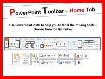 PowerPoint 2010 Toolbar Activity - All Tabs