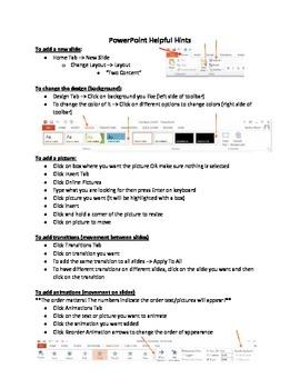 PowerPoint 2013 Helpful Hints