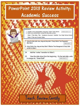 PowerPoint 2013 Review Activity:  Academic Success