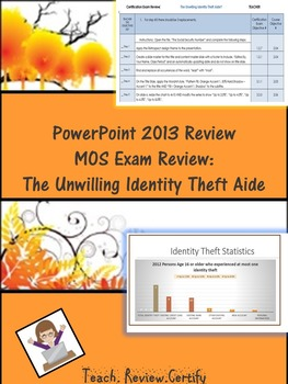 PowerPoint 2013 Review/MOS Exam Review:  The Unwilling Identity Theft Aide