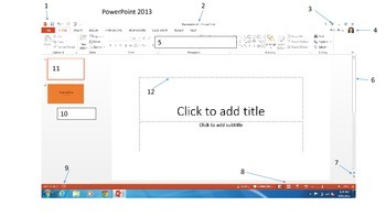 PowerPoint 2013 Terminology Worksheet