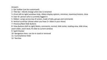 PowerPoint 2013 Terminology Worksheet