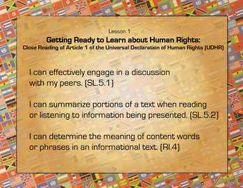 PowerPoint: 5th grade ELA Module 1 Unit 1, Building Background on Human Rights