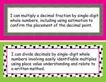 PowerPoint: 5th grade Math Module 1 LTT, I CAN statements