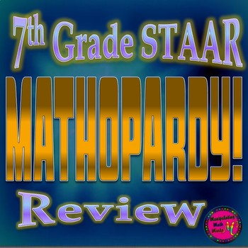 PowerPoint 7th Grade Math STAAR Jeopardy style Review Game