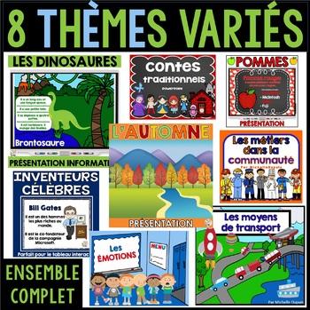 PowerPoint - 8 thèmes variés - Ensemble complet