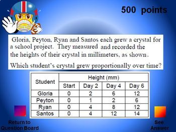 powerpoint  grade math staar jeopardy style game game  tpt