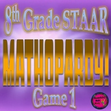 PowerPoint 8th Grade Math STAAR Jeopardy style Game (Game 1)