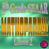 PowerPoint 8th Grade Math STAAR Jeopardy style Game (Game 2)