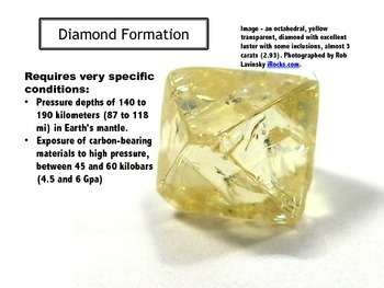 Rocks and Minerals: Diamond - PowerPoint & Study Guide