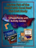 3 PowerPoints & 3 Study Guides Unit Study: Marine Fish of the World Bundle