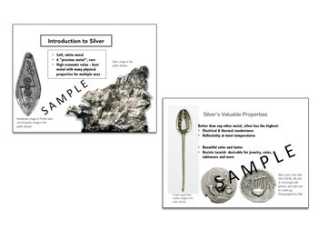 PowerPoint, Study Guide & Lapbook - Rocks and Minerals: Precious Metal, Silver