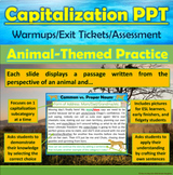 PowerPoint: Animal-Themed Capitalization Interactive Practice