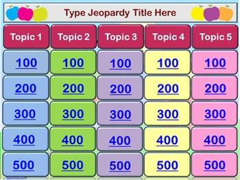 PowerPoint Apple Jeopardy Template
