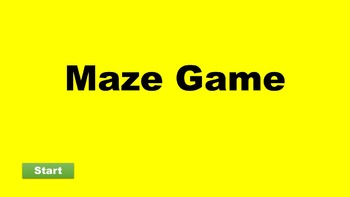 PowerPoint Assignment - Design a Maze Game