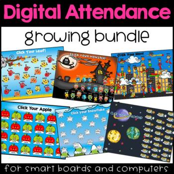 Digital Attendance Growing Bundle (Smartboards, Interactive Whiteboards)