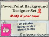 PowerPoint Background – Designer Set 1