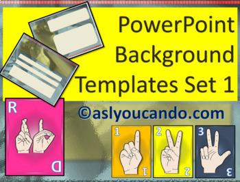 ASL PowerPoint Background Templates Set 1