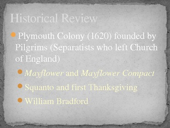 PowerPoint Background to New England/Puritan Literature