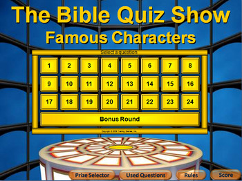 PowerPoint  Bible Quiz Show - Famous Characters - Easy