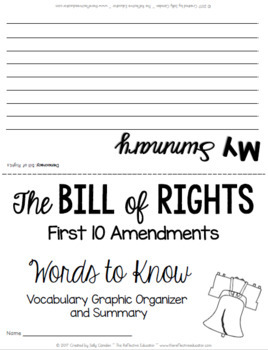 bill of rights all 10 amendments powerpoint by the reflective