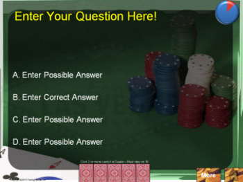 PowerPoint BlackJack Quiz Show Game