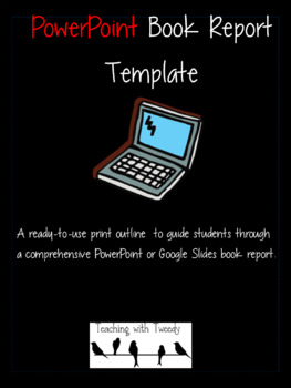 powerpoint book report by teaching with tweedy tpt