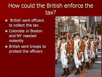 Boston Massacre Review Worksheet and PowerPoint