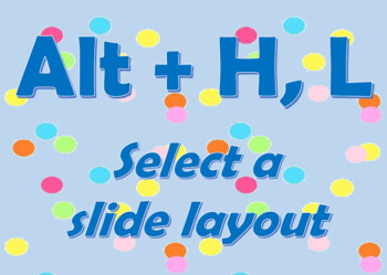 PowerPoint Bulletin Board Set with Confetti Design