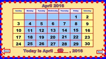 PowerPoint Calendar for April