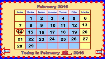 PowerPoint Calendar for February