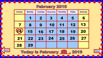 PowerPoint Calendar for February