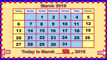 PowerPoint Calendar for March
