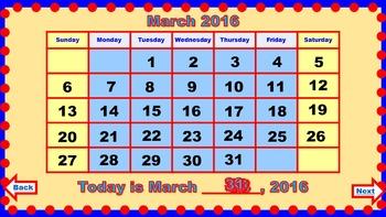 PowerPoint Calendar for March