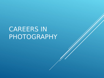 PowerPoint - Careers in Photography