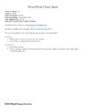 PowerPoint Cheat Sheet
