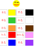 PowerPoint - Chinese Color words flashcards (with Sound - Cantonese)