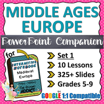 PowerPoint Companion for Middle Ages (Medieval) Europe {Set 1}
