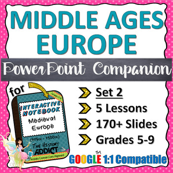 PowerPoint Companion for Middle Ages (Medieval) Europe {Set 2}