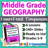 PowerPoint Companion for Middle Grade Geography Interactiv