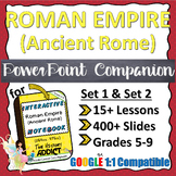 PowerPoint Companion for Roman Empire (Ancient Rome) ISN {Set 1 & Set 2}