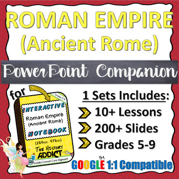 PowerPoint Companion for The Roman Empire (Ancient Rome) INB {Set 1}
